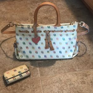 Authentic Dooney and Bourke bag and phone case
